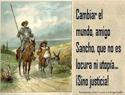 Quijote y Sancho buscando justicia